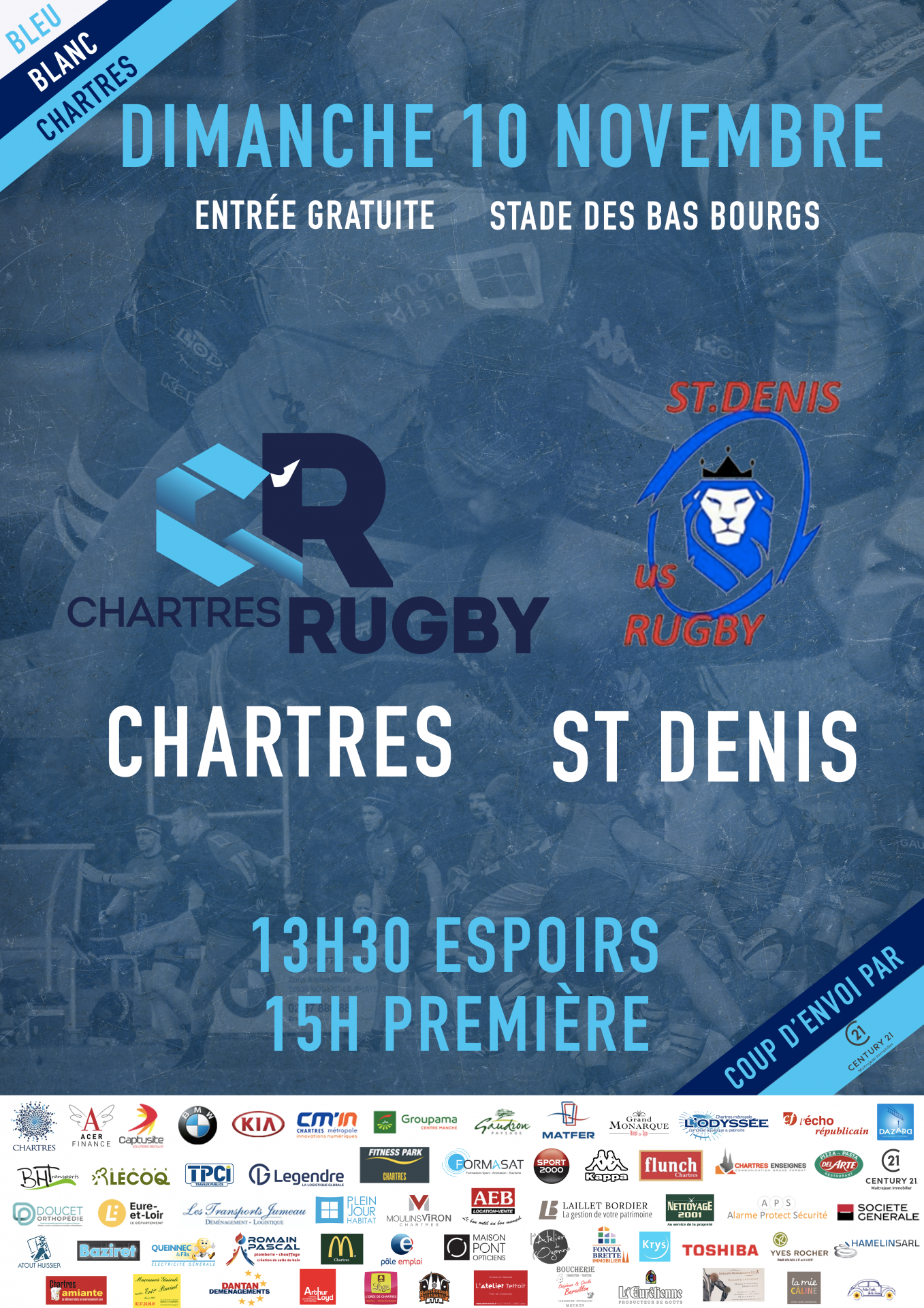 C'Chartres Rugby vs Saint Denis