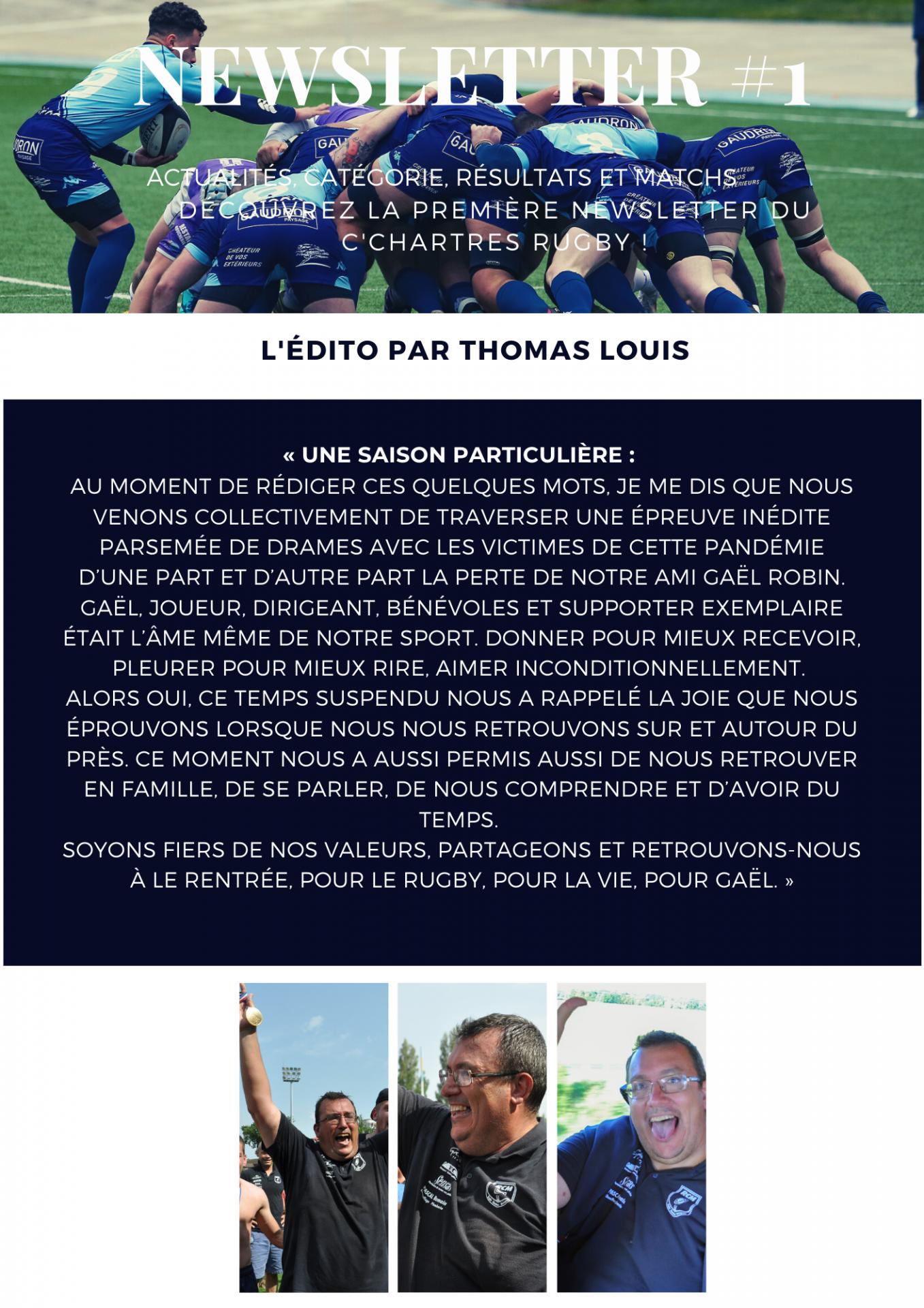 Newsletter Mai - Juin - Juillet 2020